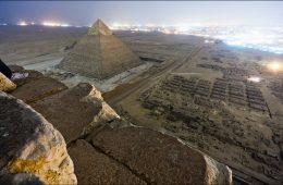 Widok z piramidy Mykerinosa