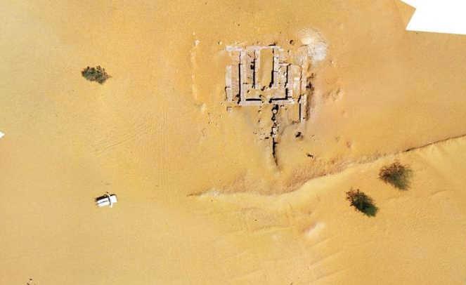 Polscy archeolodzy w Sudanie odkryli pozostałości świątyni (na zdjęciu) i pałacu królewskiego w Sonijat. Fot. dr Bogdan Żurawski