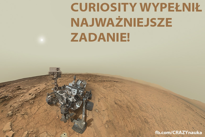 Łazik Curiosity odnalazł na Marsie pierwiastki potrzebne do powstania życia