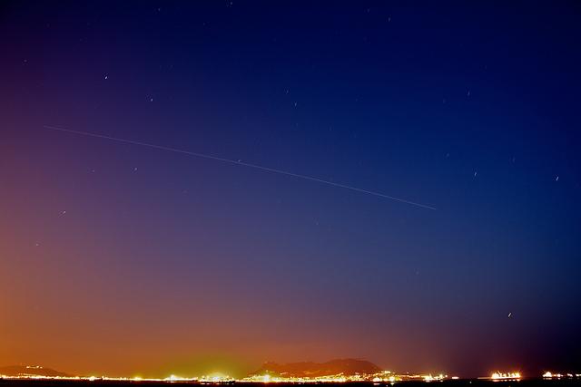Międzynarodowa Stacja Kosmiczna na niebie