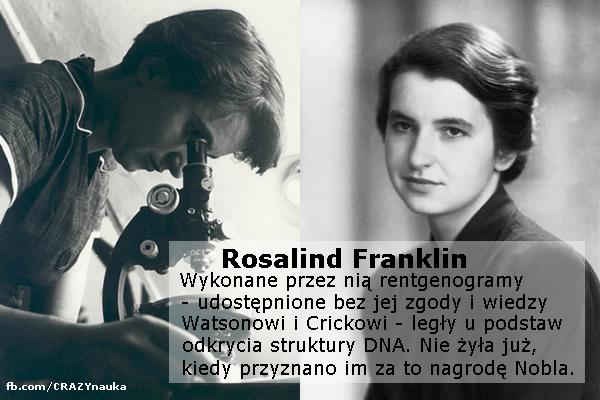 Rosalind Franklin, współodkrywca struktury DNA