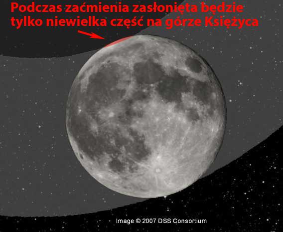 Zaćmienie Księżyca 25 kwietnia 2013
