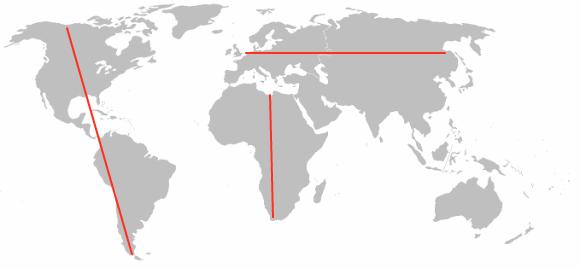 Niektóre kontynenty są wysokie, a inne szerokie. To ważna różnica.