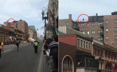 Człowiek na dachu - jedna z teorii spiskowych dotyczących zamachu w Bostonie