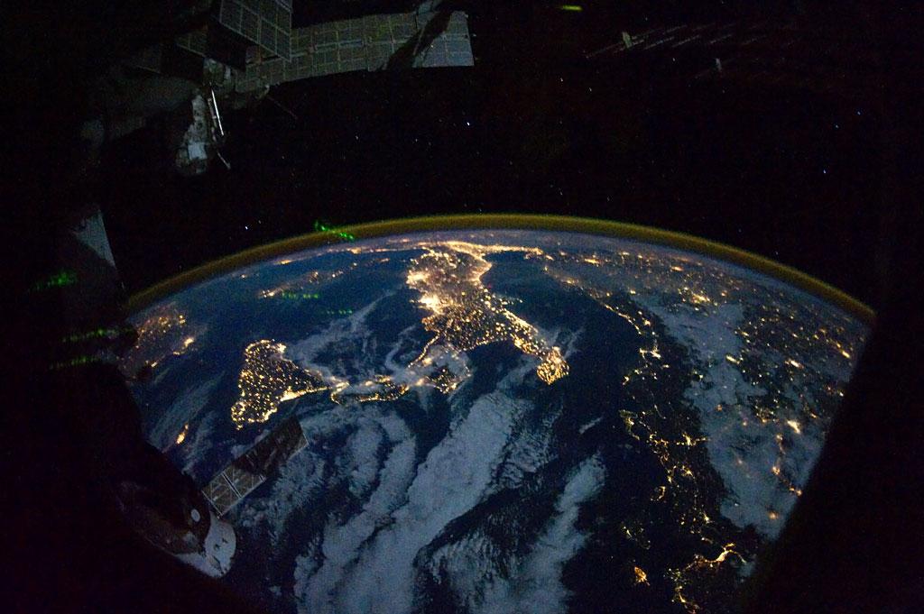 Ziemia widziana z Międzynarodowej Stacji Kosmicznej. Fot. NASA