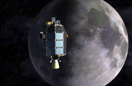 LADEE i Księżyc. rys. NASA