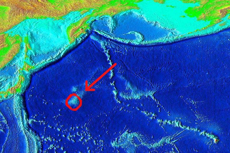 Masyw Tamu, największy wulkan na Ziemi. Fot. Wikipedia