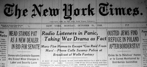 """New York Times z artykułem o """"Wojnie światów"""""""