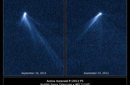 P/2013 P5 - asteroida z 6 ogonami. Fot. NASA