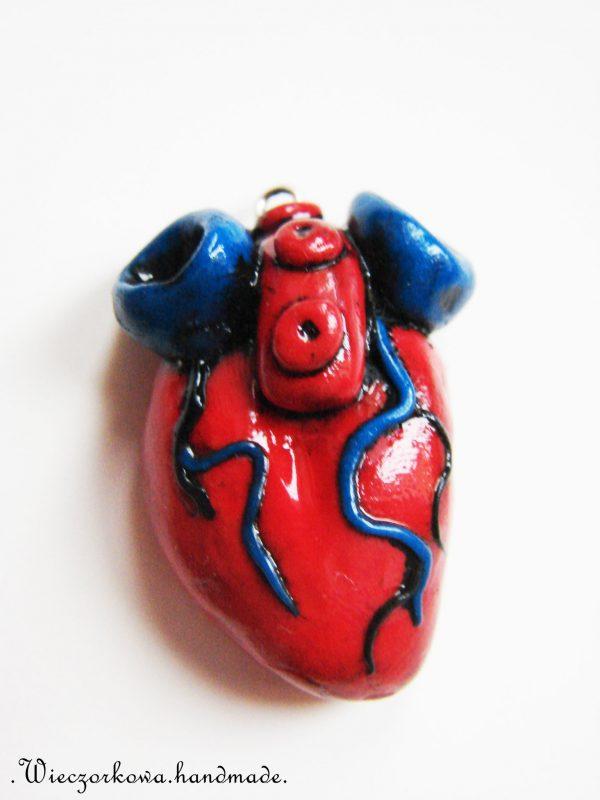 Serce z modeliny. Fot. Wieczorkowa.handmade