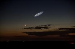 Tak wyglądałaby na niebie galaktyka Andromedy, gdyby była jaśniejsza