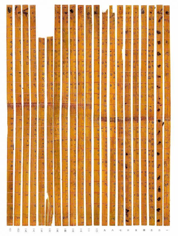 Najstarsza na świecie tabliczka mnożenia. Fot. Research and Conservation Centre for Excavated Text/Tsinghua Univ