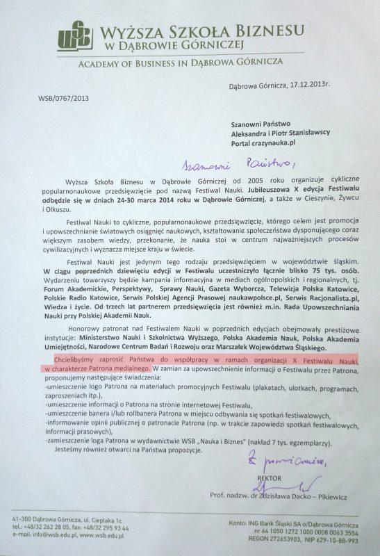 Crazy Nauka patronem medialnym festiwalu w Dąbrowie Górniczej!