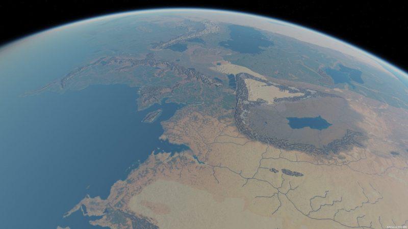 Wizualizacja Śródziemia. Źródło: http://www.me-dem.me.uk/