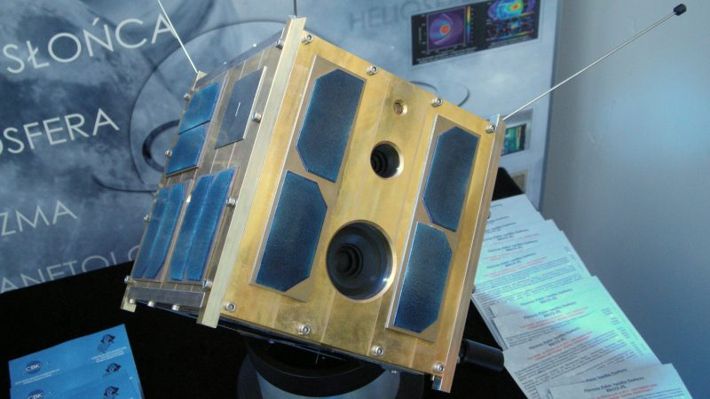 Model satelity Heweliusz. Fot. www.brite-pl.pl
