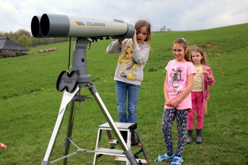 Obserwacje nieba podczas astrozlotu w Stężnicy odbywały się przez całą dobę, bez względu na pogodę ;-) Fot. Darek Bobak