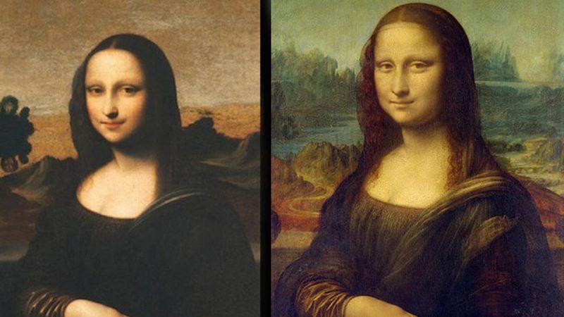 """Mona Lisa z Isleworth"" i klasyczna ""Mona Lisa""."