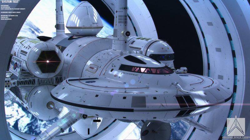 Projekt nadświetlnego statku NASA - IXS Enterprise. Rys. NASA