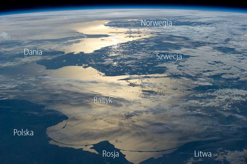 Polska, Bałtyk i okolice z Międzynarodowej Stacji Kosmicznej. Fot. NASA