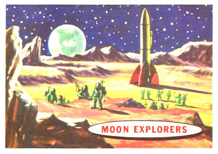 """""""Moon Explorers"""" - pocztówka z lat 50. XX wieku"""
