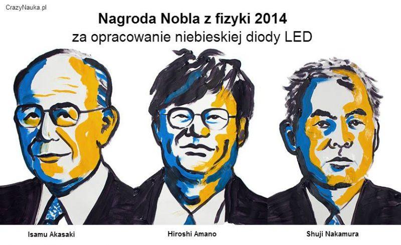 Laureaci Nagrody Nobla z fizyki 2014. Rys. N. Elmehed. © Nobel Media 2014