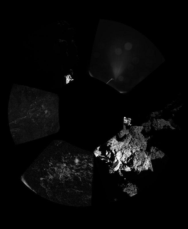 Pierwsze zdjęcie panoramiczne. Fot. ESA/Rosetta/Philae/CIVA