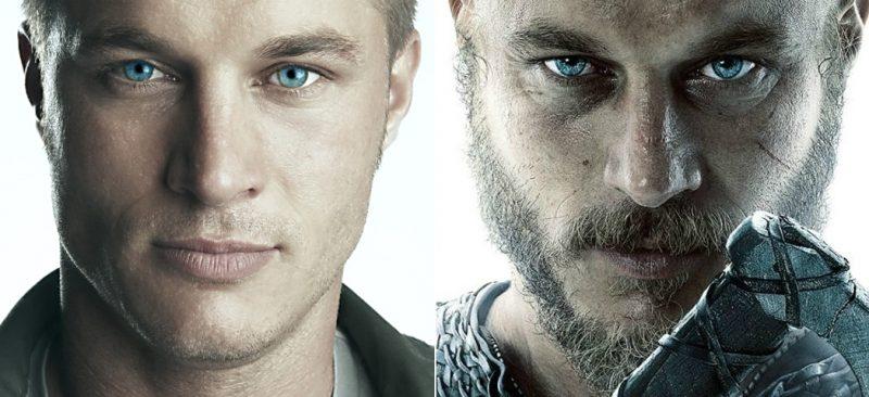 """Australijski aktor Travis Fimmel jako Ragnar Lothbrok (z prawej), bohater serial """"Wikingowie"""" i legendarny wódz wikingów, który w IX wieku dopłynął Sekwaną do Paryża i go złupił."""