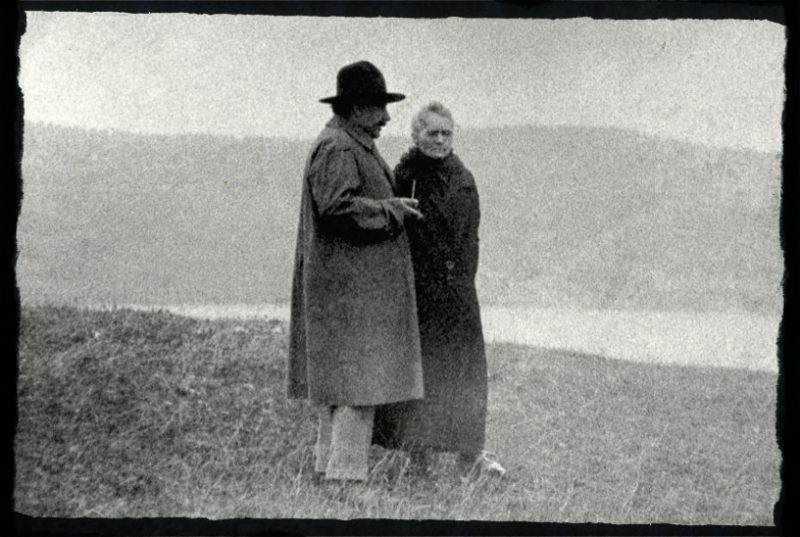 Maria Skłodowska-Curie i Albert Einstein