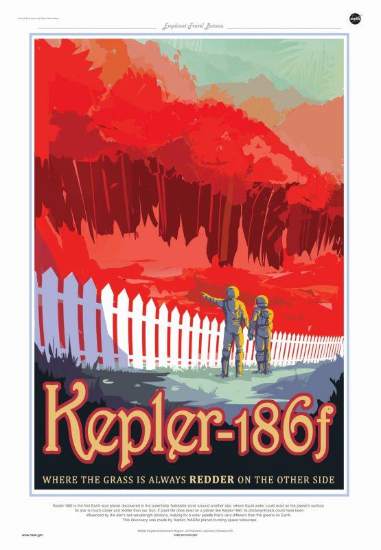 Kepler-186f - tam, gdzie trawa jest zawsze czerwona. Rys. NASA