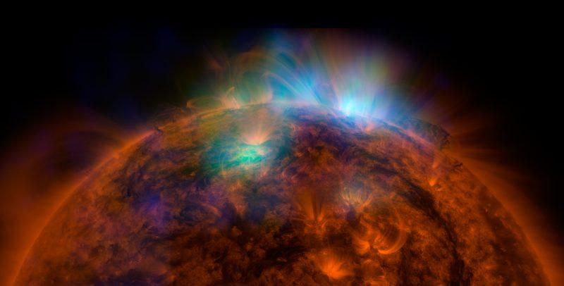 Słońce i emisja promieni rentgenowskich z jego powierzchni. Fot. NASA/JPL-Caltech/GSFC