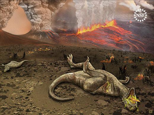 Czy dinozaury wybiła ciemna materia? Rys. National Science Foundation, Zina Deretsky