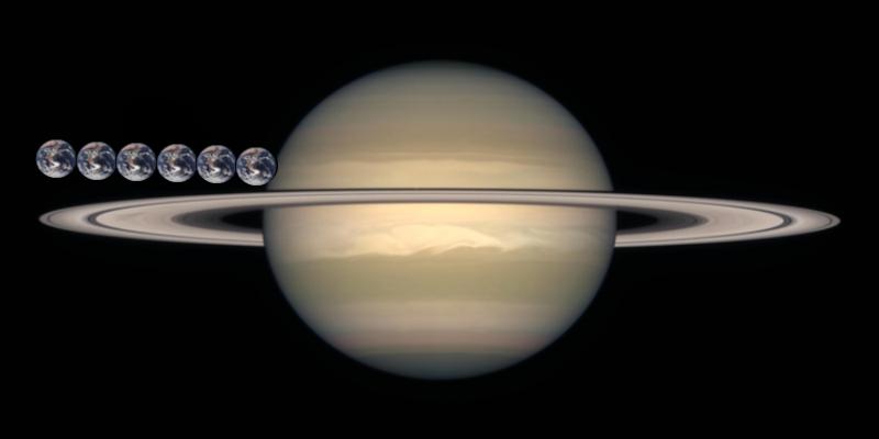 Saturn i Ziemia. Fot. NASA