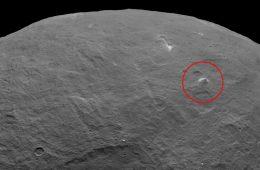 Piramida na Ceres. Fot. Photo by NASA/JPL-Caltech/UCLA/MPS/DLR/IDA