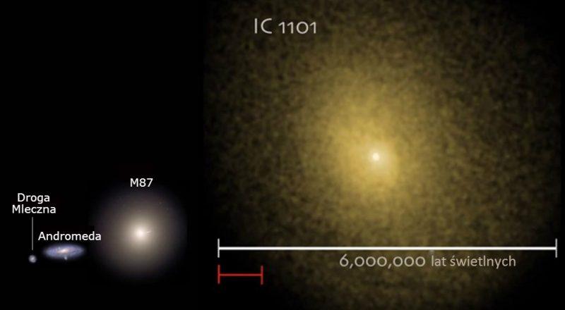 IC 1101 - największa znana galaktyka. Fot. NASA