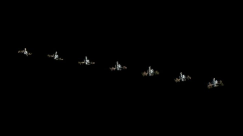 Międzynarodowa Stacja Kosmiczna sfotografowana przez teleskop z Ziemi. Fot. Emilio Küffer/Flickr