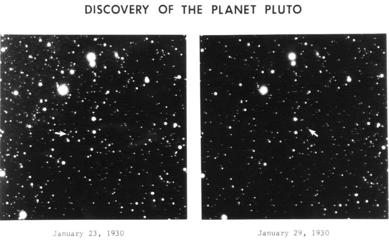 Pierwsze zdjęcie Plutona z 1930 roku. Fot. Wikipedia