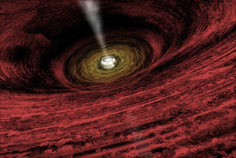 Czarna dziura. Rys. NASA/CXC/M.Weiss