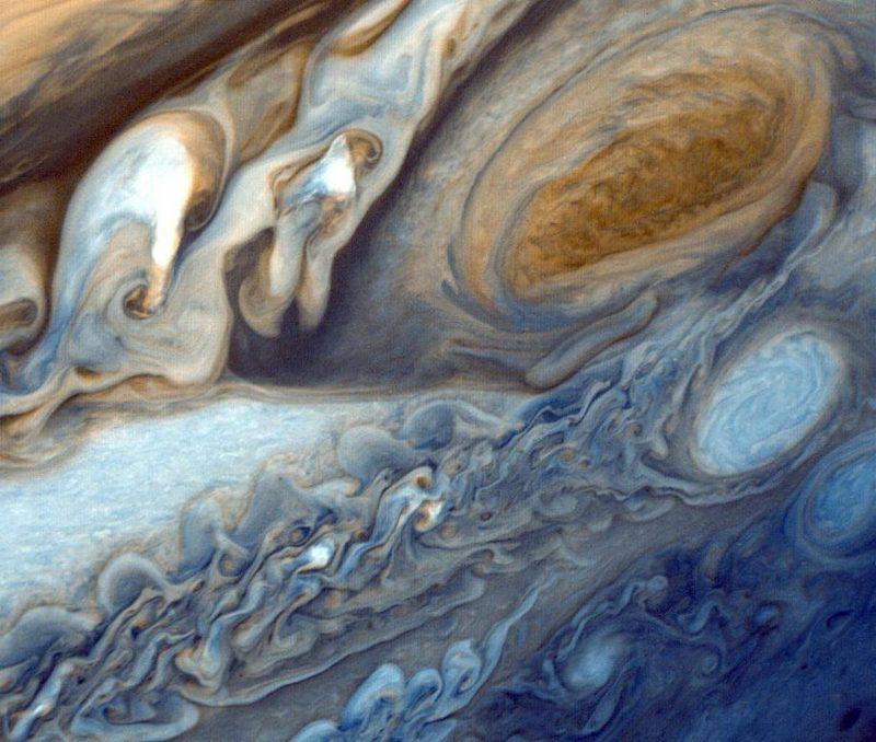 Wielka Czerwona Plama w obiektywie sondy Voyager 1. Fot. NASA/JPL