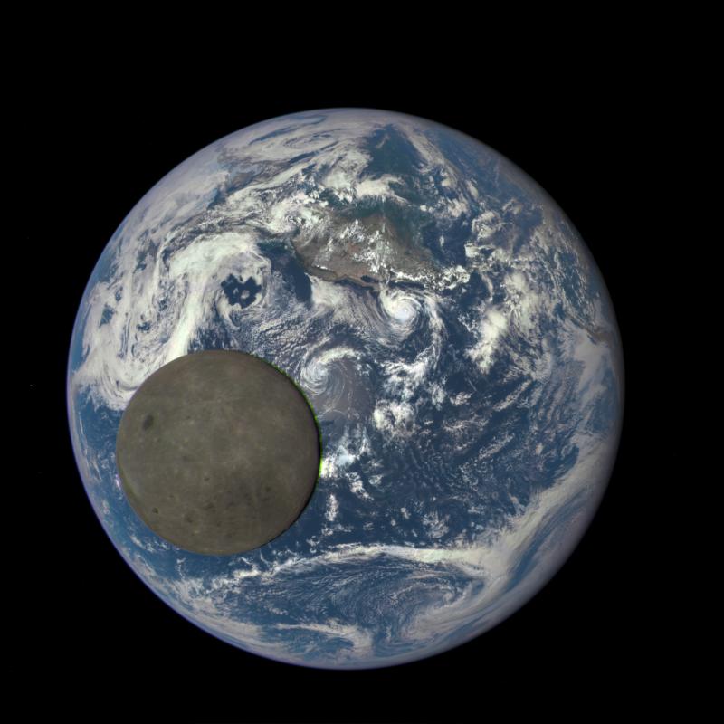 Selfie Ziemi z Ksieżycem Fot. NASA/NOAA [KLIKNIJ BY POWIĘKSZYĆ]