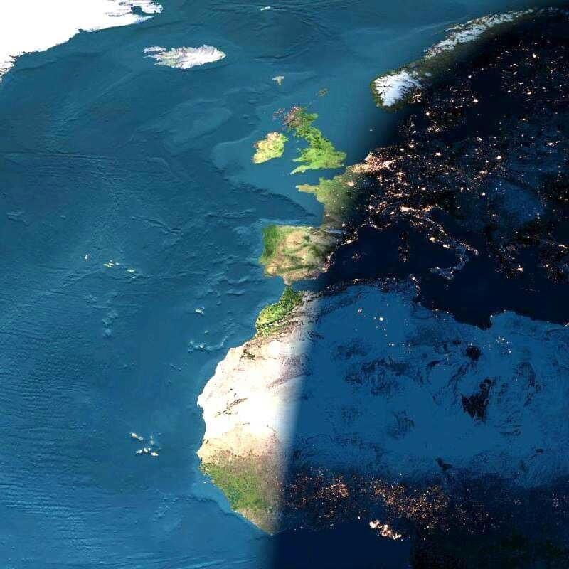 """""""Granica dnia i nocy nad Europą"""""""
