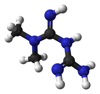 Metformina. Rys. Wikipedia