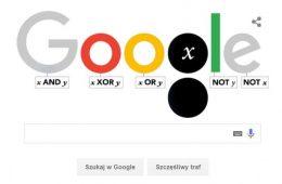 George Boole i jego operatory w Google doodle. Rys. Google