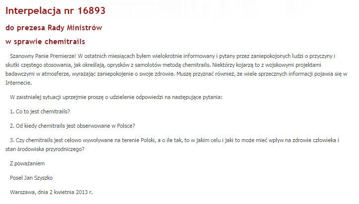 Interpelacja nr 16893. Fot. Sejm.gov.pl