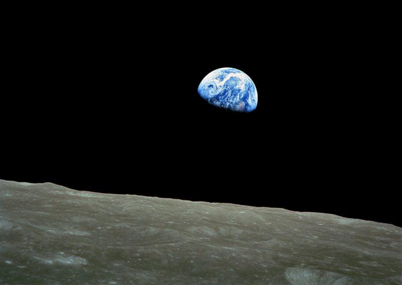 """Wschód Ziemi"", 1968 rok. Fot. NASA"