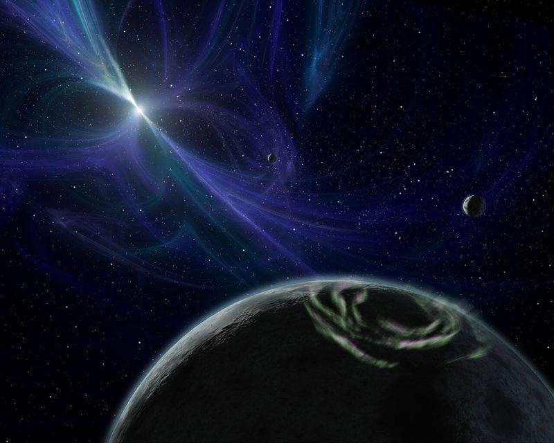 Lich, Draugr, Poltegreist i Phobetor czyli upiorna gromada prof. Wolszczana. Rys. NASA/JPL-Caltech/R. Hurt (SSC)