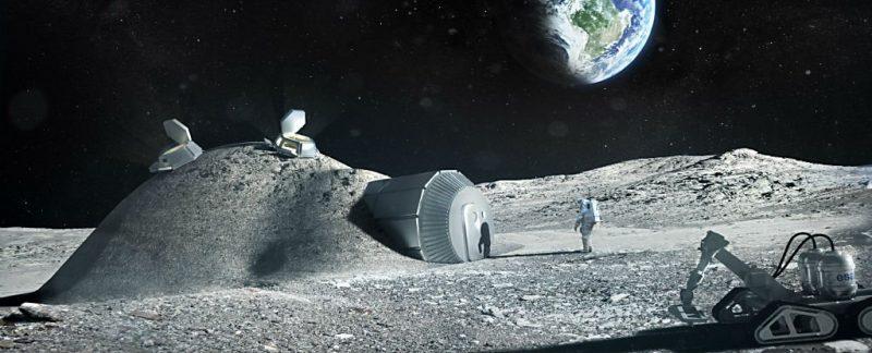 Jak ją nazwą? Moontown? Fot. ESA/Foster + Partners