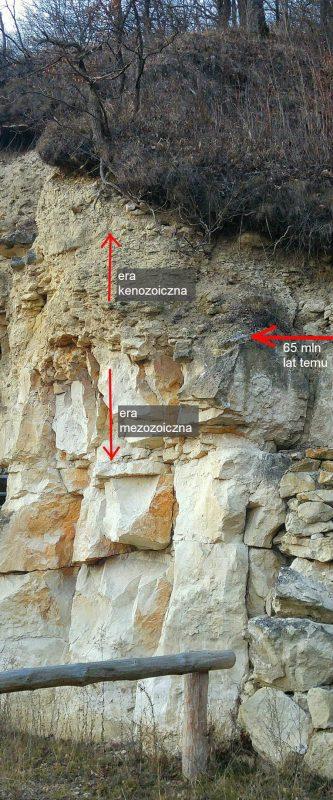 Granica epoki panowania dinozaurów – kamieniołomy pod Kazimierzem Dolnym. Fot. Crazy Nauka
