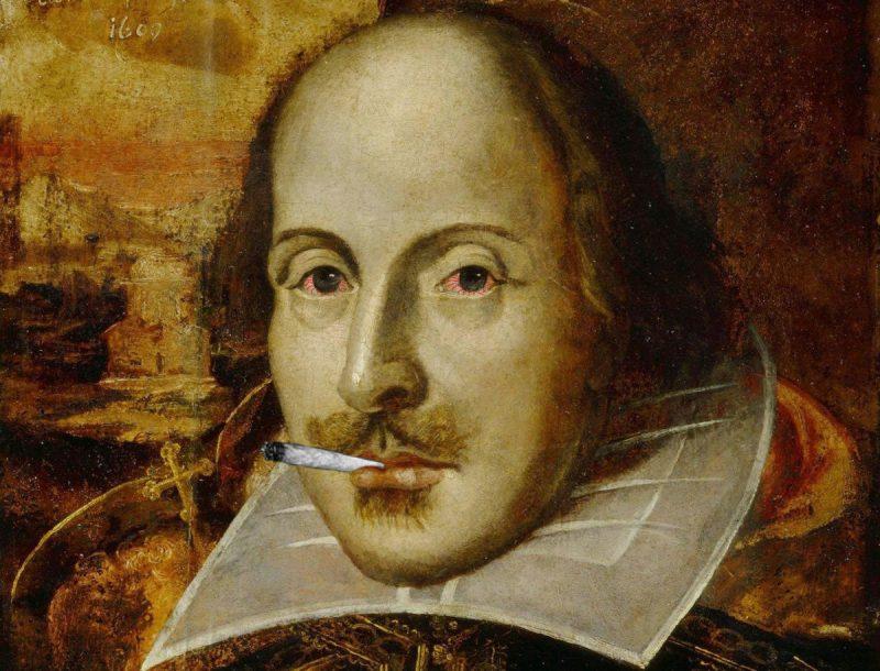 """William Szekspir i jego inspiracja? To XIX-wieczny portret autorstwa nieznanego artysty, współcześnie """"nieco poprawiony""""."""