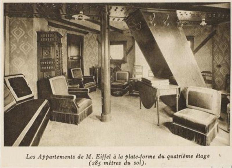 Oryginalny wygląd apartamentu Eiffela'a