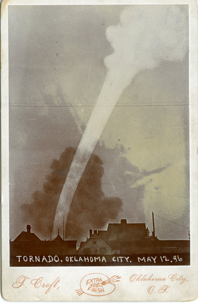 Oklahoma City 12 maja 1896. Źródło: NOAA Photo Library